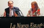 Alejo Vidal-Quadras e Isabel Perez-Espinosa durante la conferencia