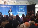 Mariano Rajoy dirigiendose a los presente en  Aviles