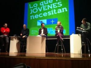 Dani Vega, Joaquín García, Álvaro Queipo, Mercedes Fernández y Mario Arias durante el acto.