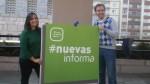 Bea Jurado y Javi Dorado presentando la camapaña #NuevasInforma