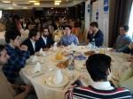 Compañeros de Nuevas Generaciones de Gijón durante el desayuno de interventores del PP de Asturias