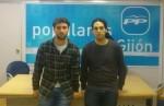 Andrés Ruiz y Pablo Yáñez ayer tras la reunión.