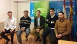 De izquierda a derecha: Adrián Rubio, Andrés Ruiz, David Medina, Alejandro López y Emilio Torres.