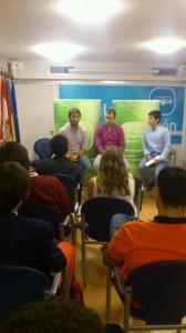De izquierda a derecha: Andrés Ruiz, Pablo Pìre y Alejandro Vega